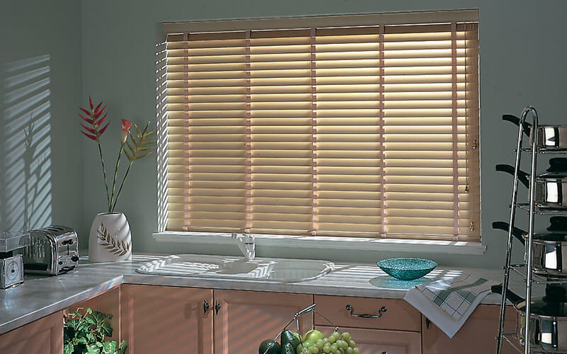 Aluminium venetian blinds in a Canberra Kitchen - get yours from The Blind Shop!