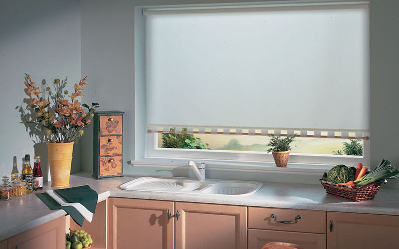 Modern Holland blinds for your kitchen available from The Blind Shop, Canberra