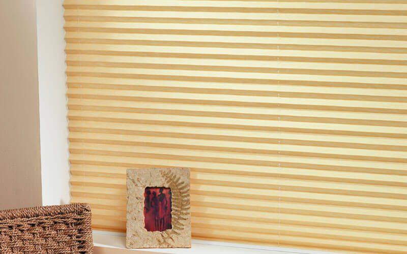 Get modern, pleated blinds from The Blind Shop, Canberra in vibrant colours - yellow